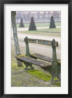 Framed Park Bench in the Gardens, Chateau de Fontainebleau