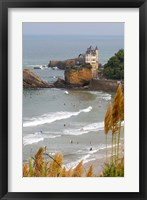 Framed Surfers on the Bay of Biscay, France