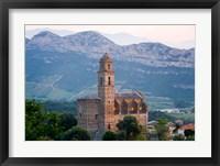 Framed Church in Village of Patrimonio, Corsica, France