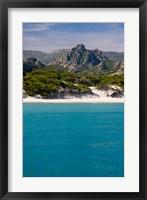 Framed France Corsica Saleccio Beach
