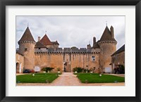 Framed Medieval Chateau de Rully