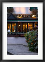 Framed Chablis Bar Cafe, Chablis, Bourgogne, France