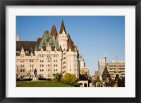 Framed Chateau Laurier Hotel in Ottawa