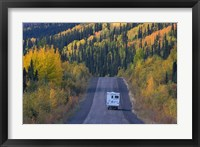 Framed Dempster Highway in the Fall