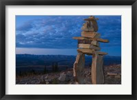 Framed Inukshuk in Ogilvie Mountains