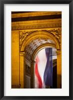 Framed Flag Inside the Arc de Triomphe