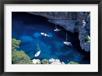 Framed Mediterranean Coast of the French Riviera