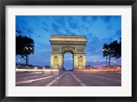 Framed Arc de Triomphe From Champs Elysees, Paris, France