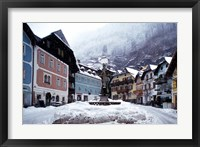 Framed Austria Town Center in Winter