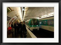 Framed Commuters Inside Metro Station, Paris, France