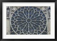 Framed South Rose Window of Notre-Dame, Paris, France