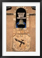 Framed Church Bell and Clock