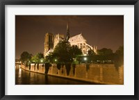 Framed Notre Dame at Twilight