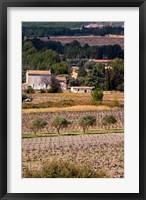 Framed Provencal Village, Chateau Vannieres