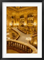 Framed Grand Staircase Entry to Palais Garnier Opera House