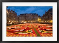 Framed Night View of the Grand Place, Belgium
