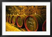 Framed Kiralyudvar Winery Barrels with Tokaj Wine, Hungary