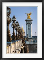 Framed Pont Alexandre III, Paris, France