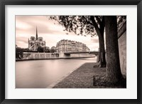 Framed River Seine and Cathedral Notre Dame