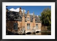 Framed Canal Building, Bruges, Belgium