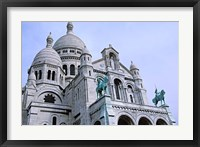Framed Sacred Heart Cathedral in Montmartre, Paris