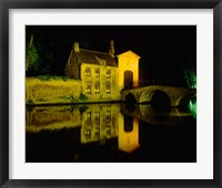 Framed Beguinage at Night, Bruges, Belgium