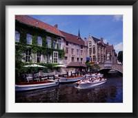 Framed Tourist Boats, Bruges, Belgium
