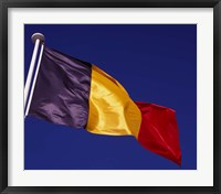 Framed Belgian Flag