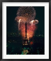 Framed Fireworks, Eiffel Tower, Paris, France