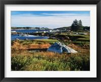 Framed Nova Scotia Coastline