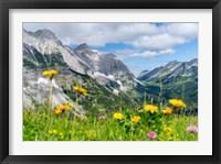 Framed Karwendel Mountain Range