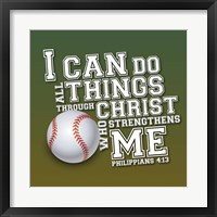 I Can Do All Sports - Baseball Framed Print