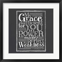 My Grace Is Sufficient Framed Print