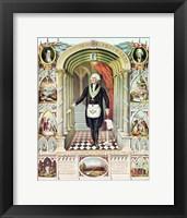 Framed George Washington as a Freemason