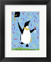 Framed Penguin Graduation
