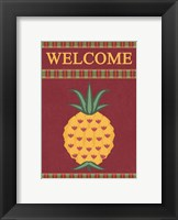 Plaid Pineapple Banner Framed Print