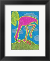 Framed Large Flamingo