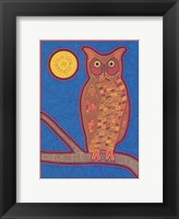 Framed Large Owl