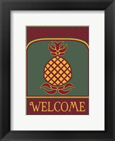 Pineapple Banner Framed Print
