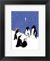 3 Wise Penguins Framed Print