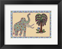 Elephant Left Page Framed Print
