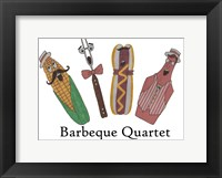 Framed Barbeque Quartet