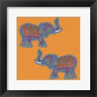 2 Elephants Framed Print