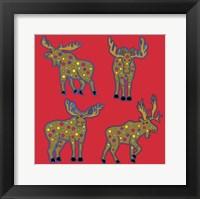 4 Moose Framed Print