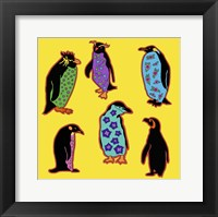 6 Penguins Framed Print