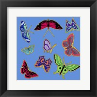 9 Butterflies Framed Print