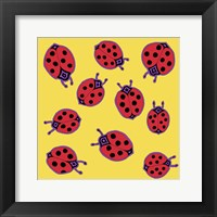 Framed 10 Ladybugs