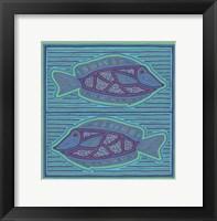 Square Fish Framed Print