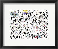 Framed Party Penguins