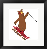Framed Skiing Bear